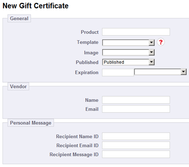 new gift certificate product prestashop blank